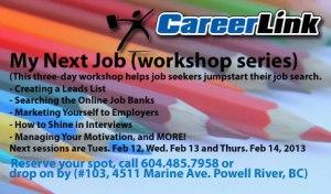 My Next Job; Click to visit our workshop calendar.