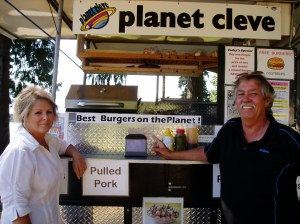 Owners Elaine Teichgraber & Cleve Hamilton are justly proud of their burgers and other menu items