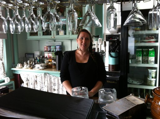 Server Jaimie Krauss is always ready to welcome guests to Edie Rae's Café