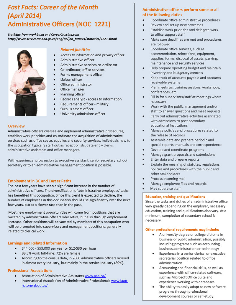 Beautiful Career Of The Month_AdministrativeOfficer