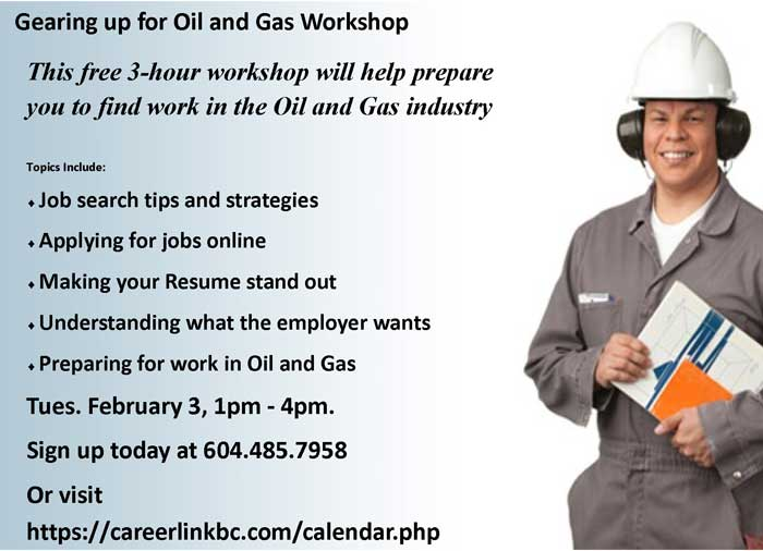 Click above to register now! or call us at 604.485.7958, or drop by Career Link