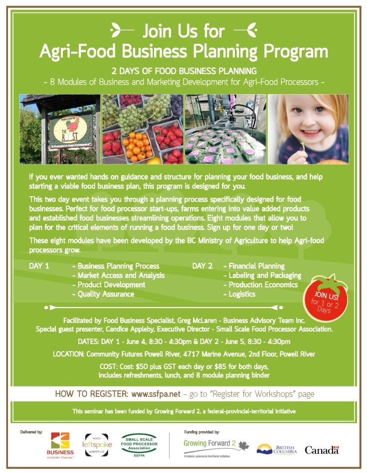 Agri-Food Business Planning Workshop