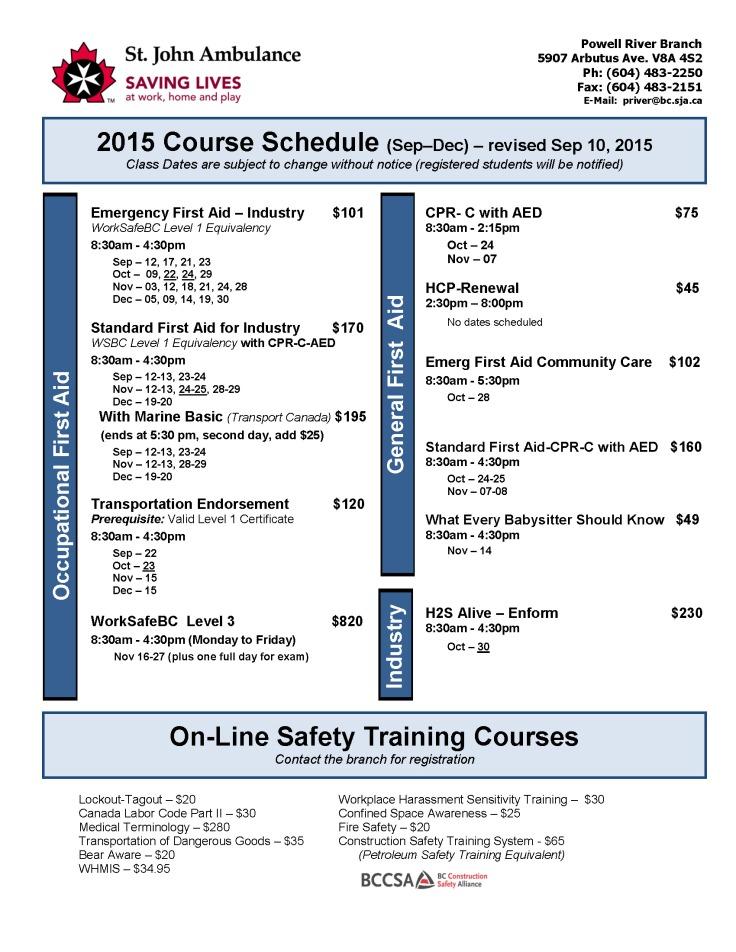 Summer-Winter Schedule 2015 Rev. 2015-Sep-10