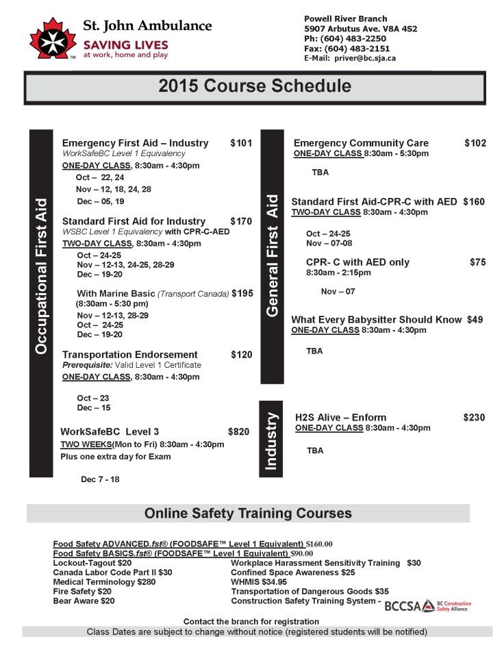Winter Schedule 2015 Rev. 2015-Sep-30