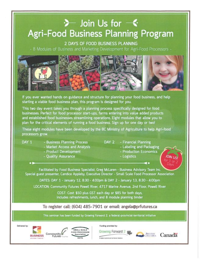 Agri-Food Business Planning