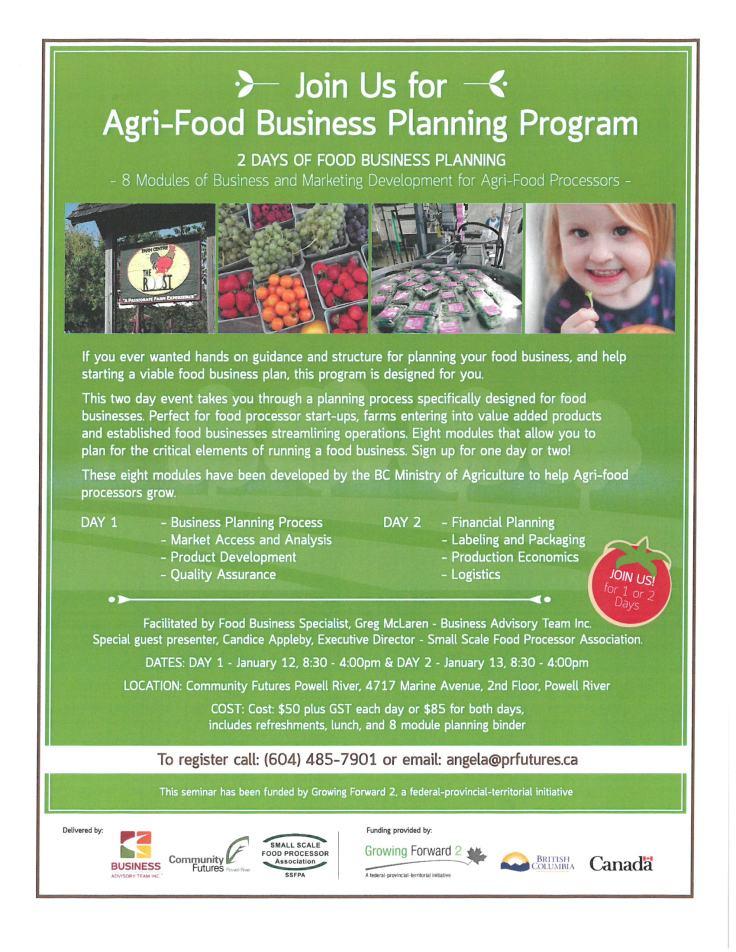 Agri-Food Business Planning