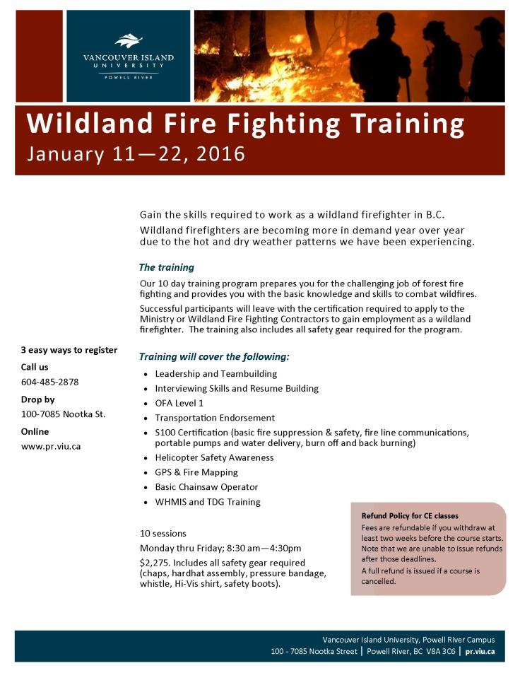 WildlandFirefightingTraining_Spring2016_Poster_draft2