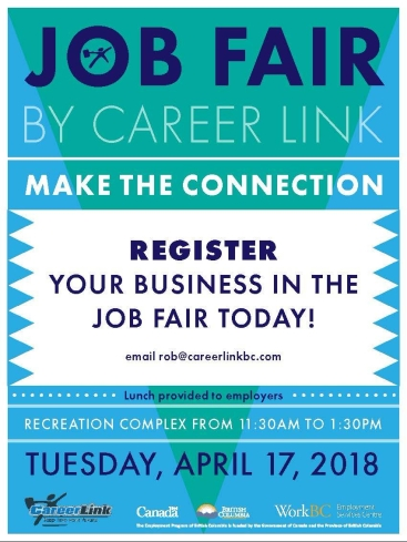 Job Fair April 2018 Employer 2.28.18