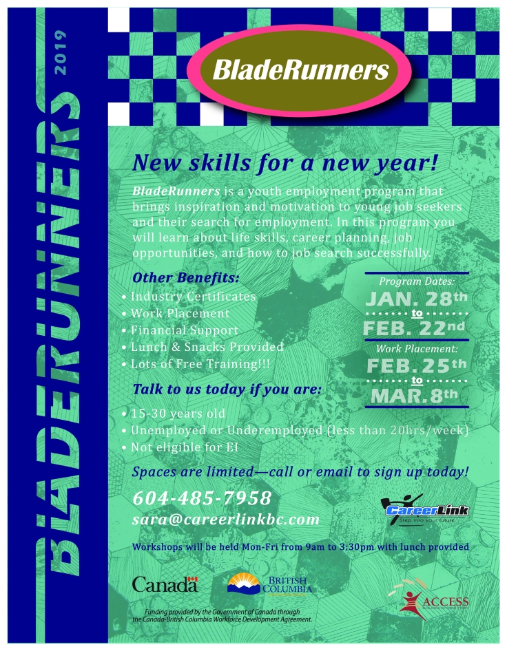 Bladerunners poster January Session-01